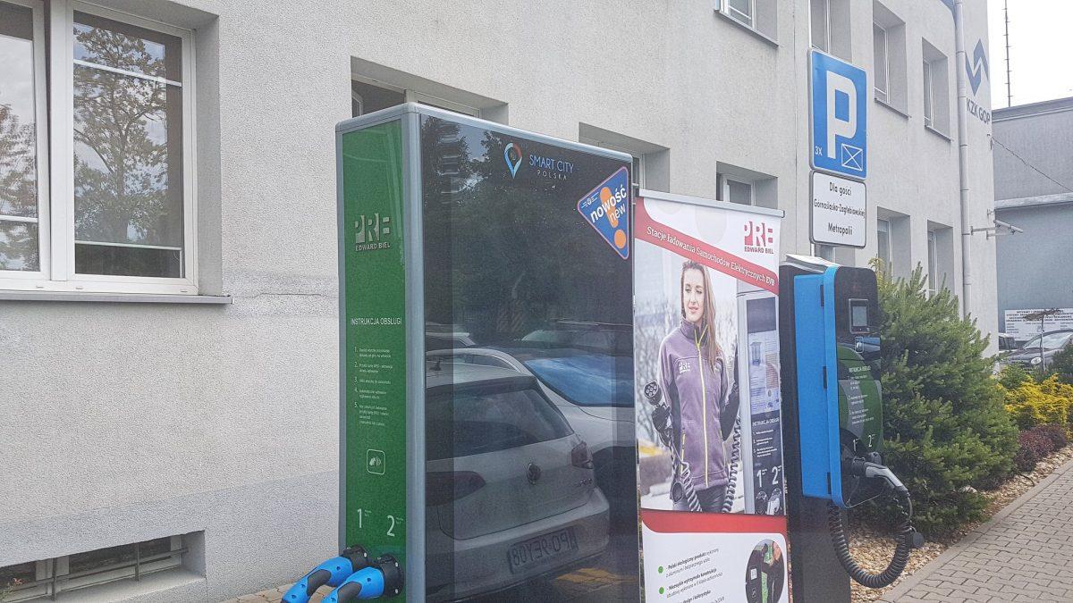 stacja ładowania pojazdów elektrycznych
