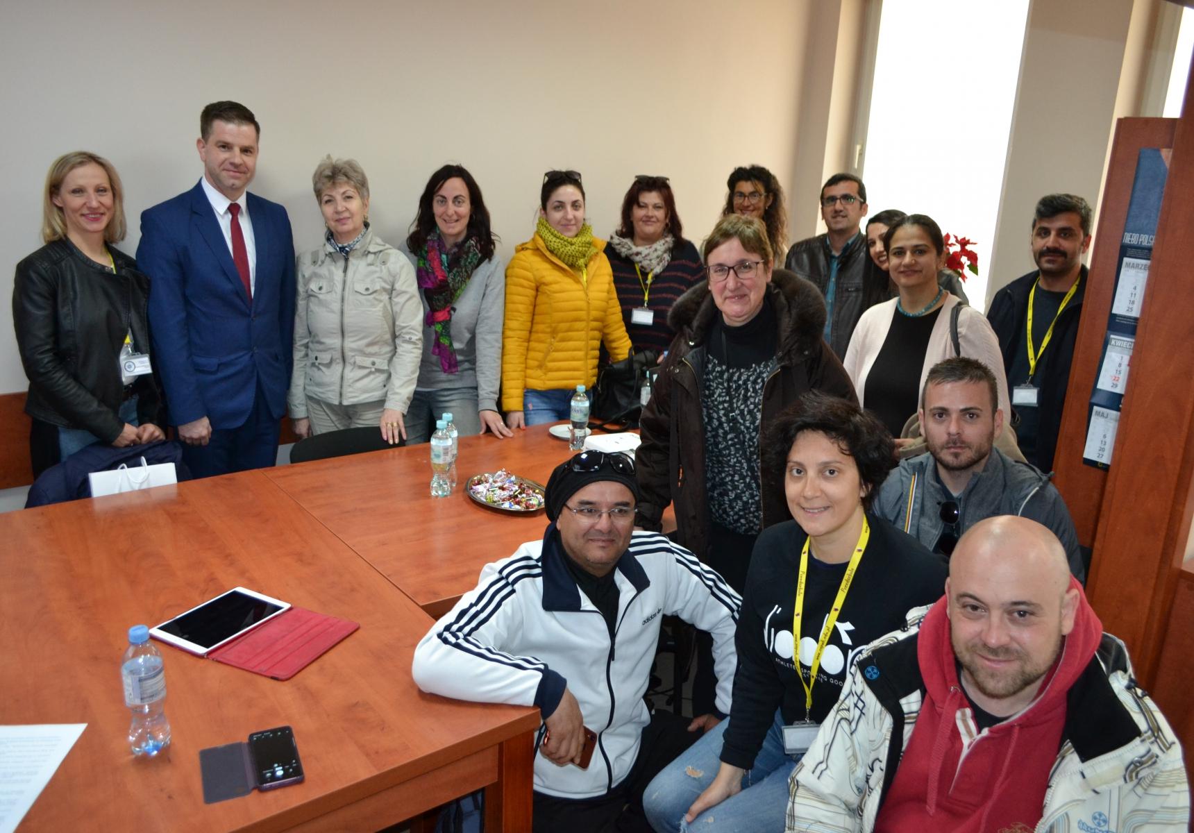 Uczestnicy projektu Erasmus+ z wizytą w Urzędzie