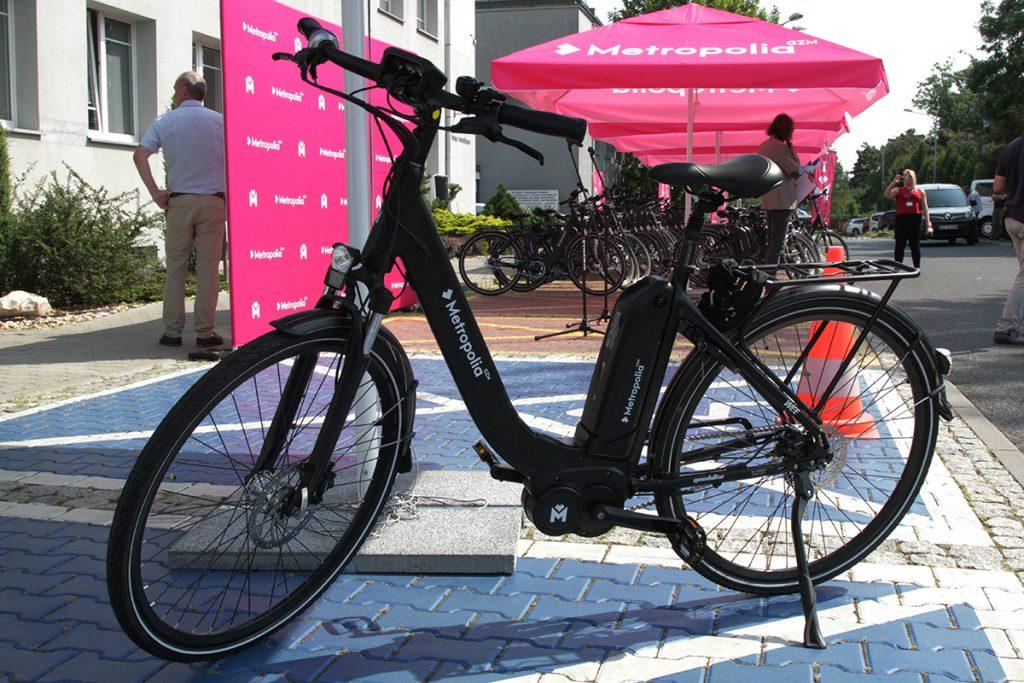 Jeden z 230 rowerów elektrycznych, które zostaną przekazane gminom GZM