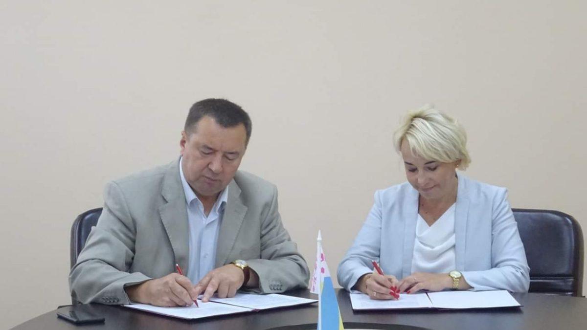 Podpisywanie listu intencyjnego przez prezydeta Obuchowa i Panią wiceprezydent Będzina