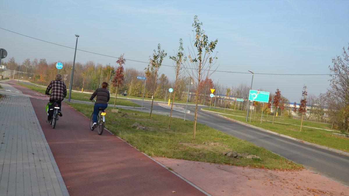 Bieruń ma nową drogę rowerową wraz z nasadzeniami