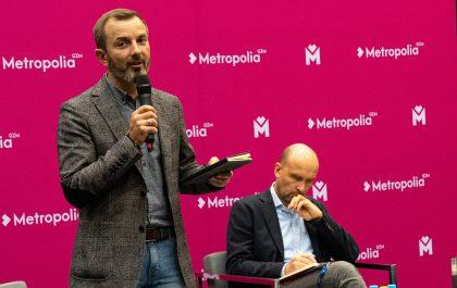 Tomasz Rożek podczas debaty