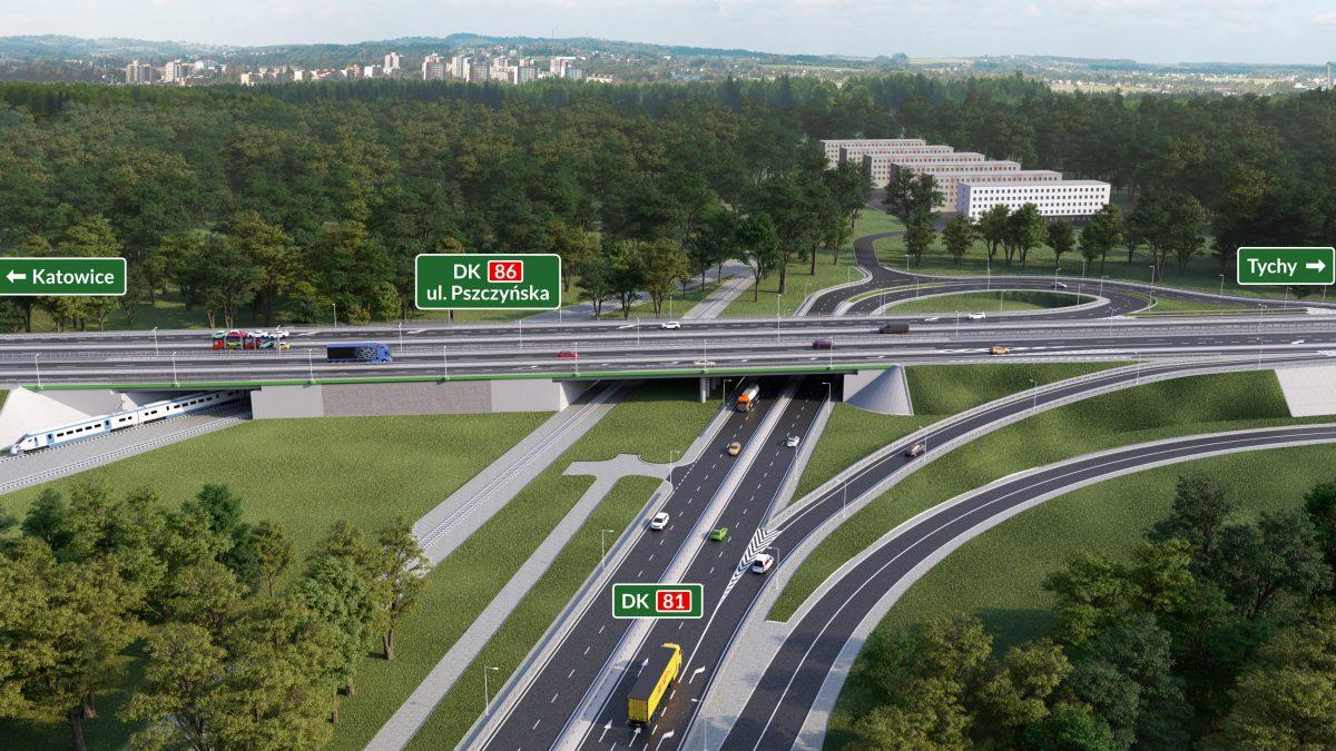 Przebudowa DK 81 w Giszowcu – zmiany w rejonie ul. Kolistej