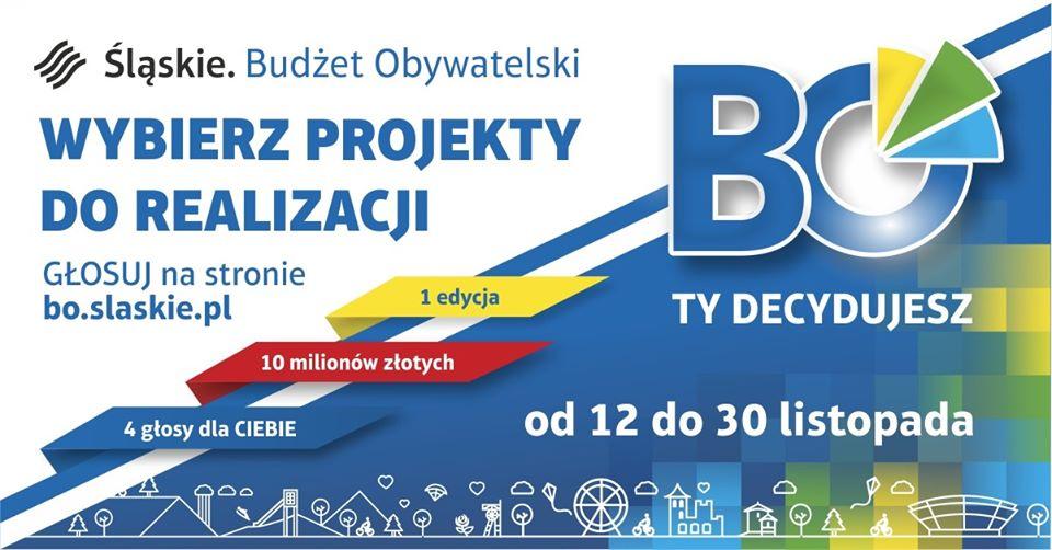 Głosowanie w budżecie obywatelskim województwa śląskiego