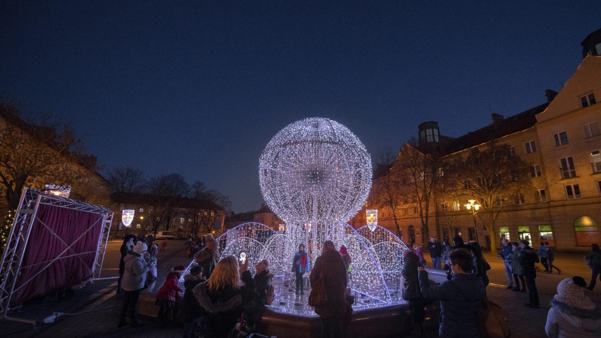 Tychy w świątecznej iluminacji
