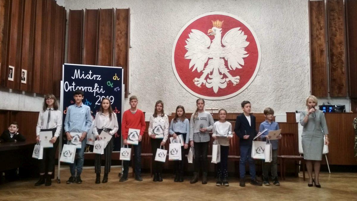 Laureaci Miejskiego Konkursu Ortograficznego