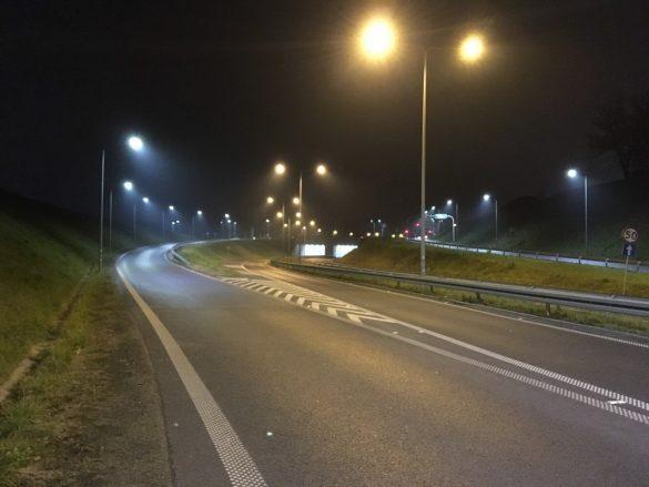 Bytomska ulica nocą