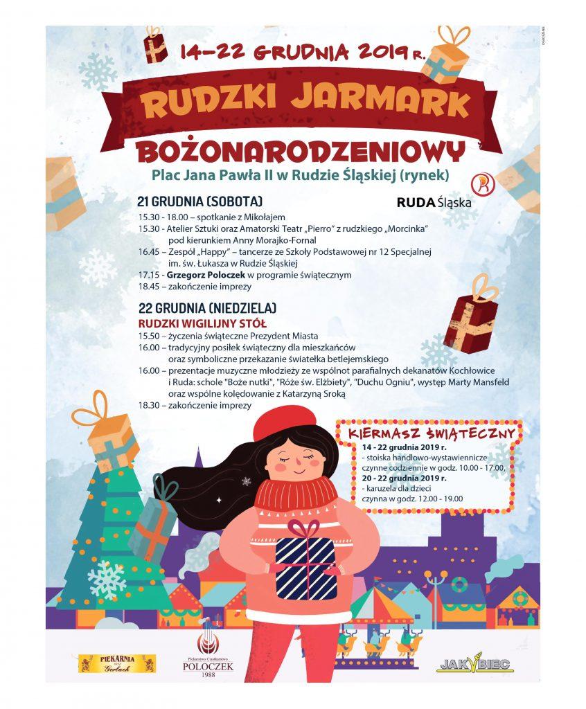 Plakat - Rudzki Jarmark Bożonarodzeniowy 2019