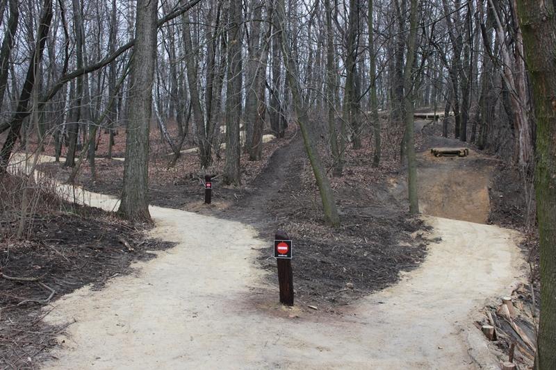 Tor rowerowy w parku Strzelnica w Rudzie Śląskiej