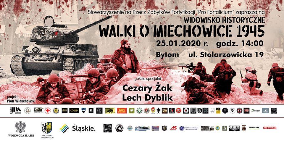 """Cezary Żak i Lech Dyblik w inscenizacji """"Walk o Miechowice 1945"""""""