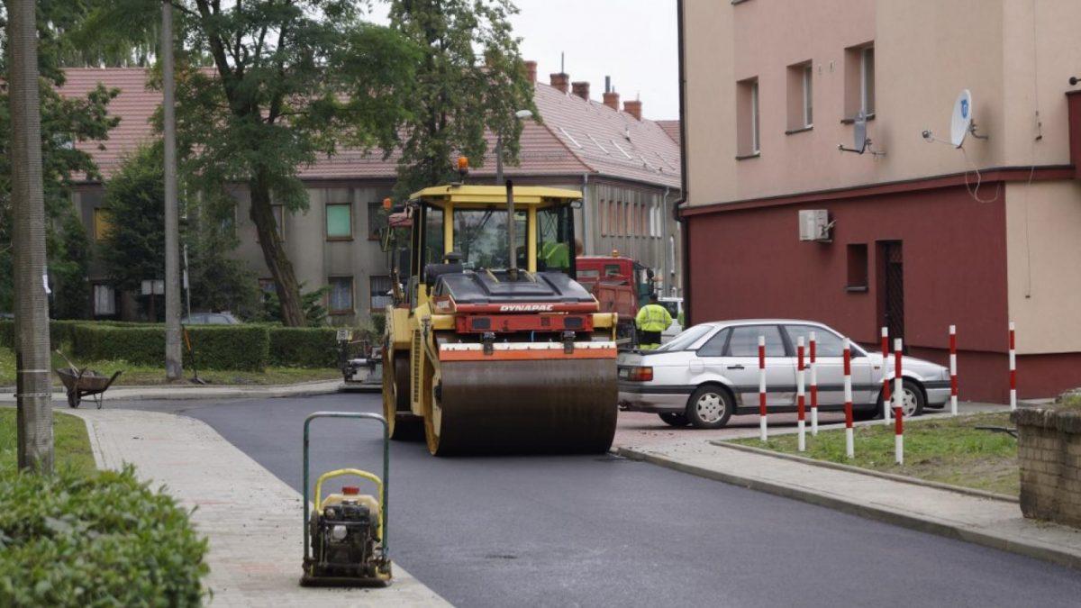 Remont jednej z gliwickich ulic
