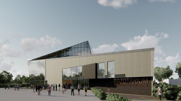 Wizualizacja przyszłego budynku Egzotarium