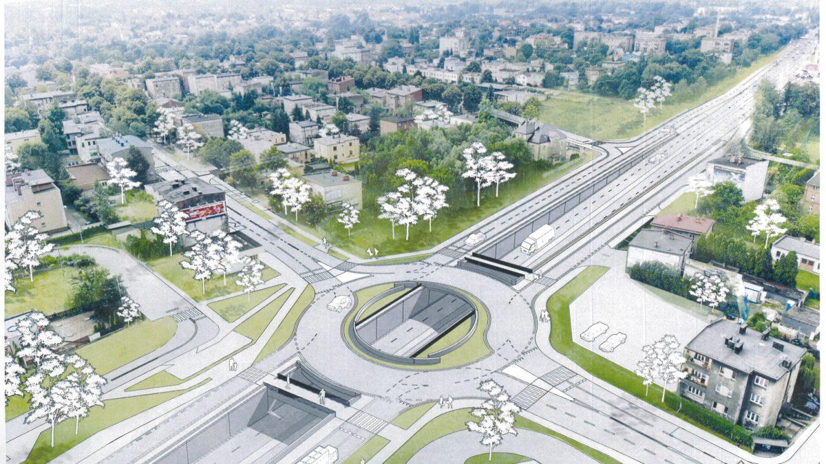 Budowa węzła drogowego w Katowicach Piotrowicach wkracza w kolejny etap –  zmiany w organizacji ruchu