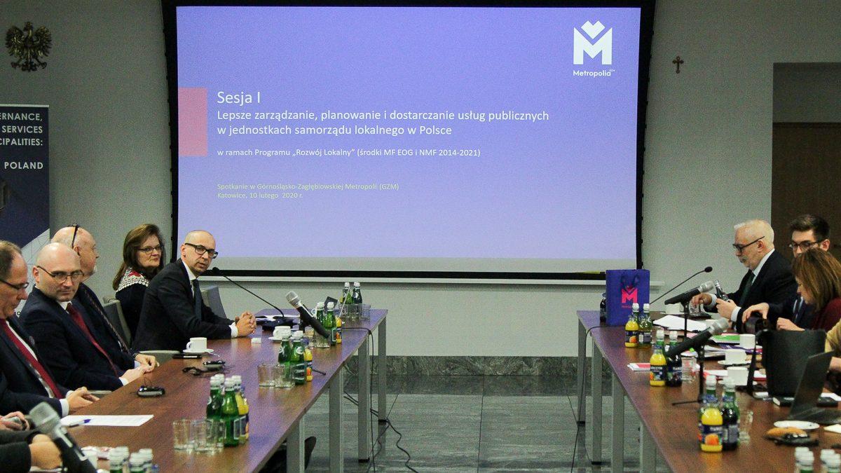 Spotkanie Zarządu Metropolii z ekspertami OECD