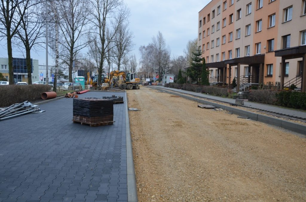 Ulica w trakcie przebudowy