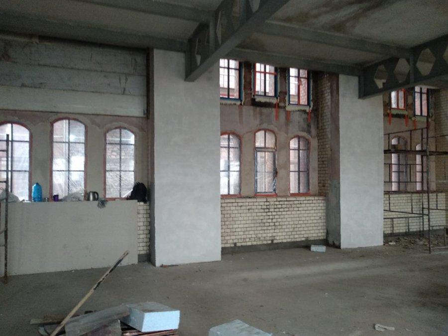 Wnętrze remontowanego obiektu pokopalnianego