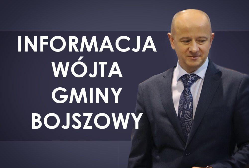 Informacja wójta gminy Bojszowy