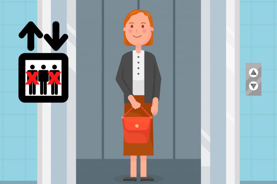 Kobieta w windzie