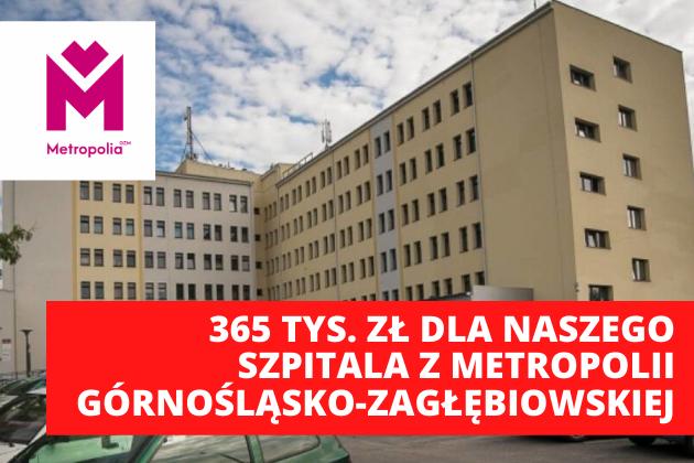 365 tys. zł dla szpitala z budżetu Metropolii