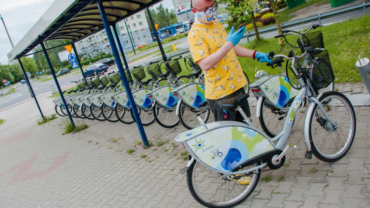 Stacja rowerów miejskich w Sosnowcu