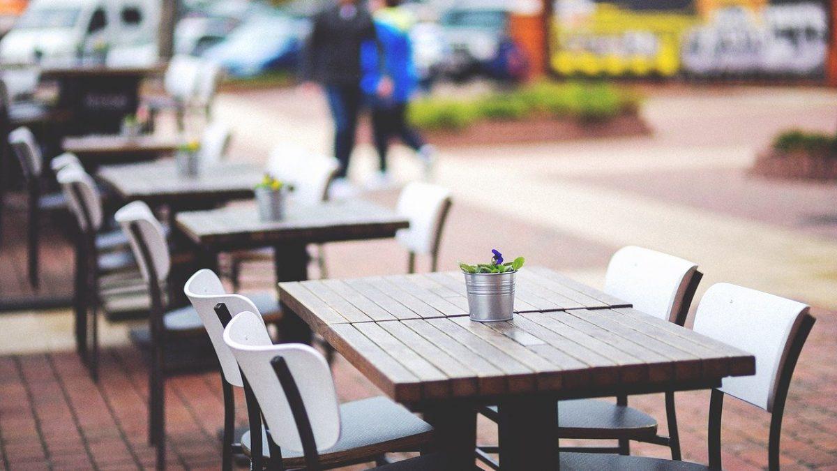 ogródek w restauracji