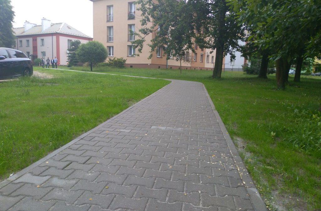 Chodnik w Bieruniu