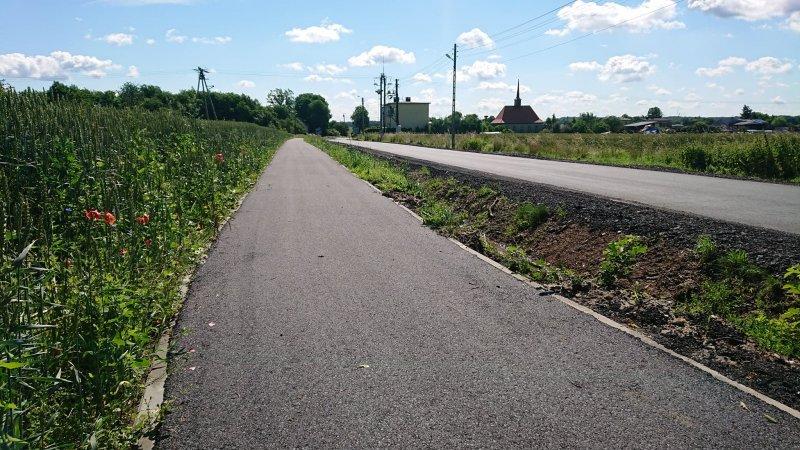 Nowa droga rowerowa w Zbrosławicach