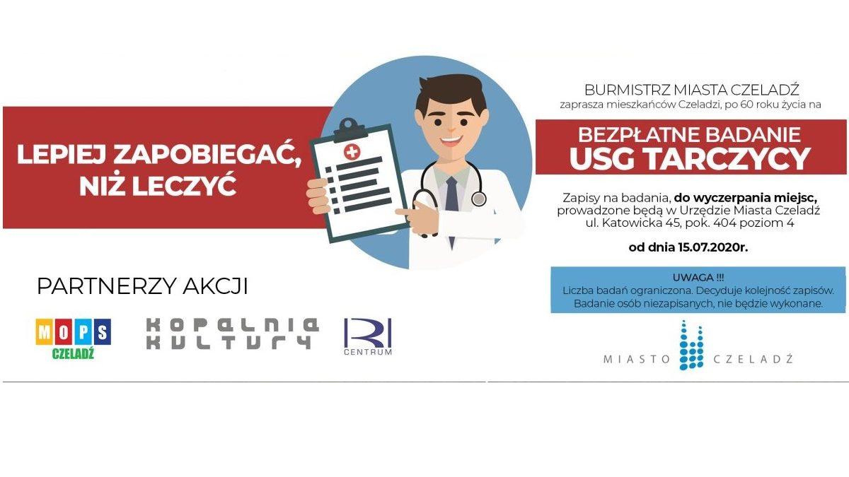 plakat o bezpłatnych badaniach