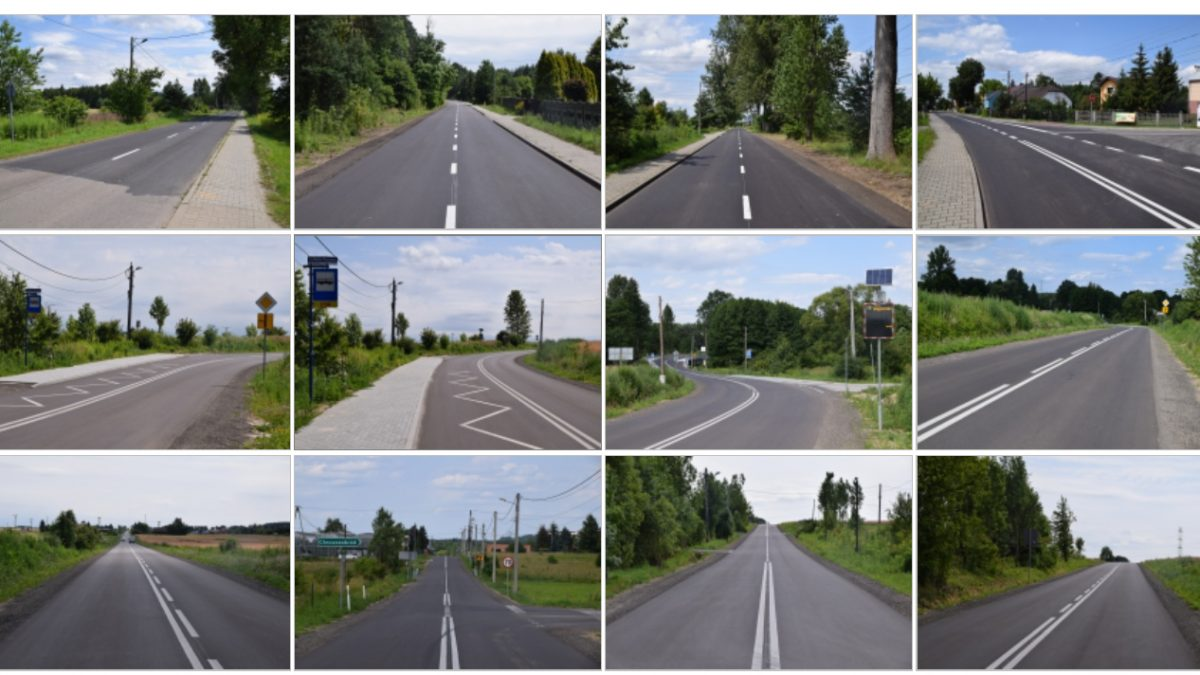 Droga powiatowa w Siewierzu po modernizacji