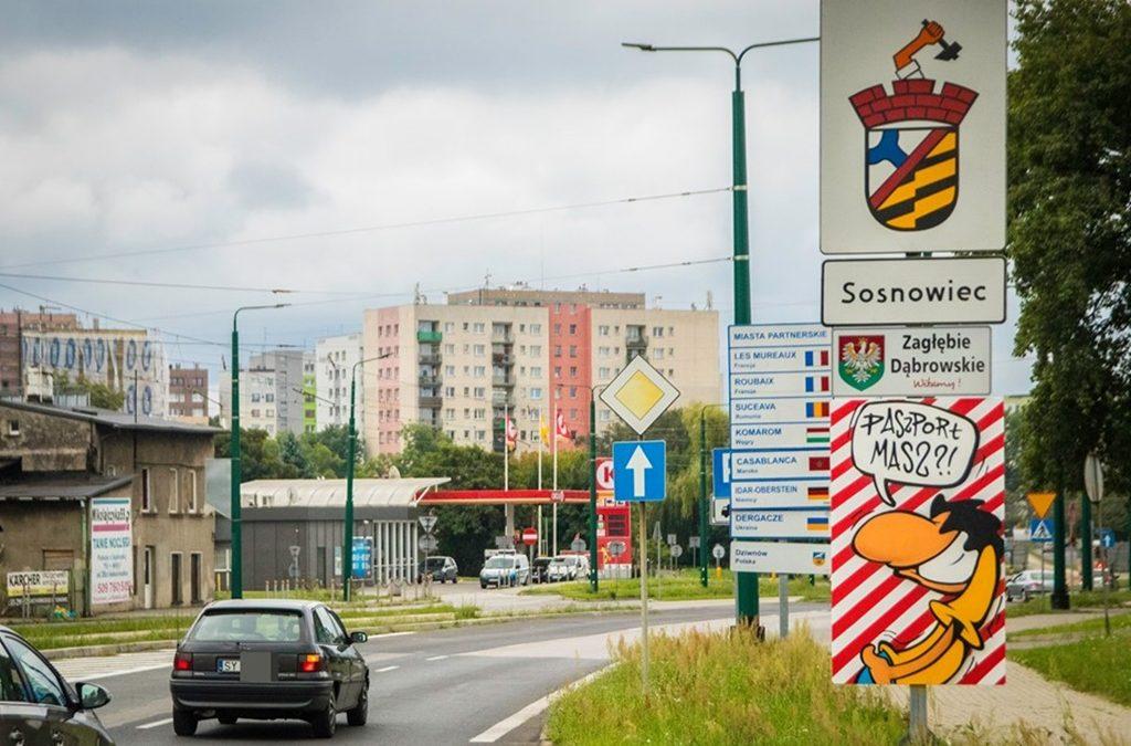 Wjazd do Sosnowca