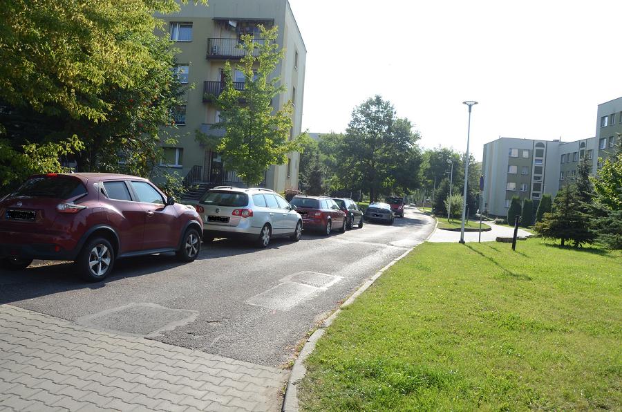 jedna z ulic w Bieruniu (Węglowa)