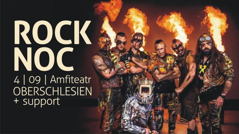Plakat reklamujący imprezę ROCK NOC
