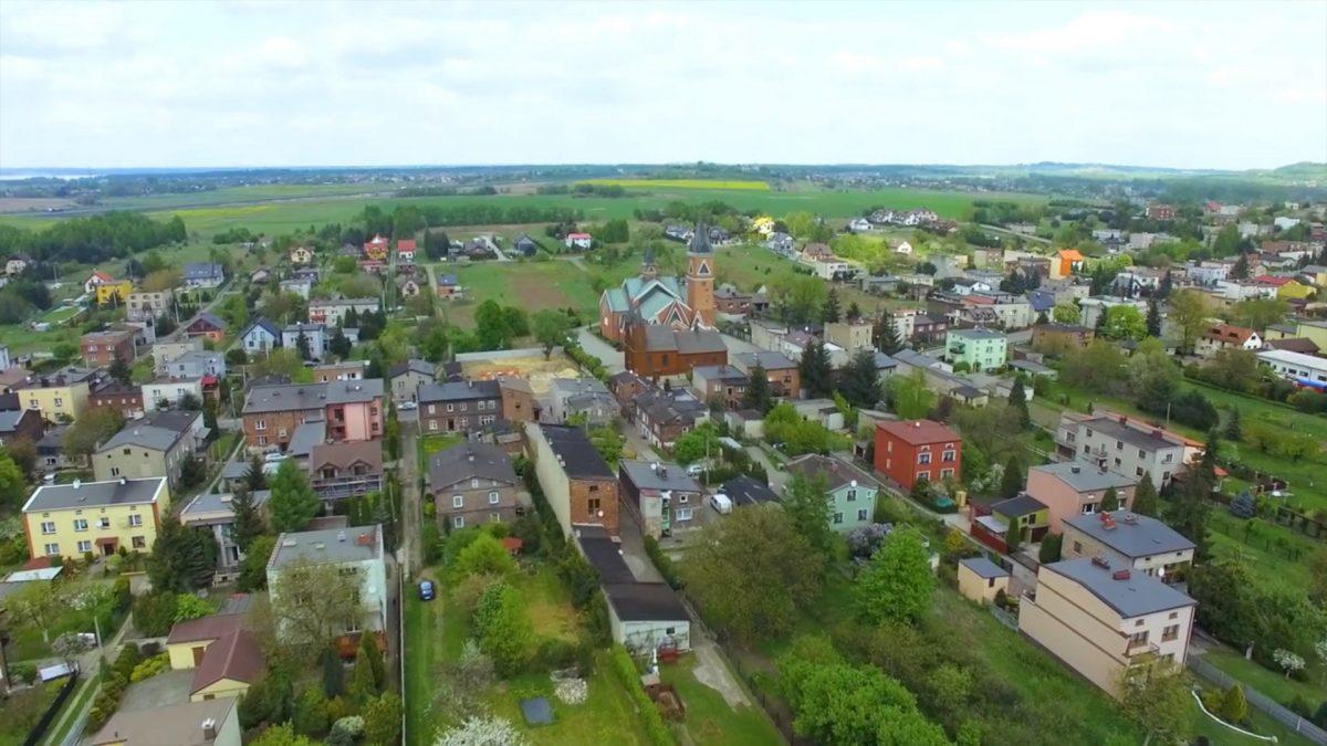 widok na gminę z lotu ptaka