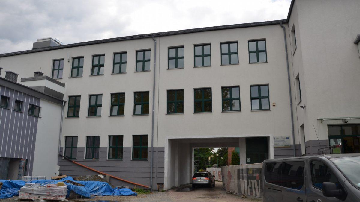 Budowa sali gimnastycznej przy SP1 - wrzesień 2020