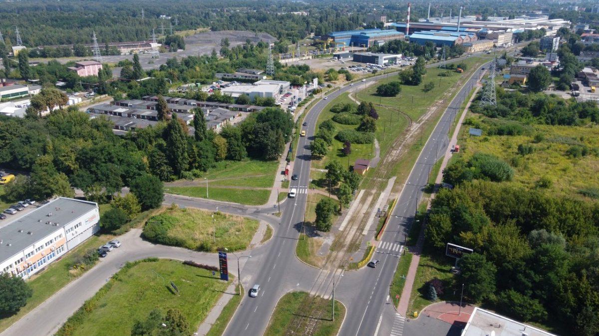 Ulica widziana z lotu ptaka