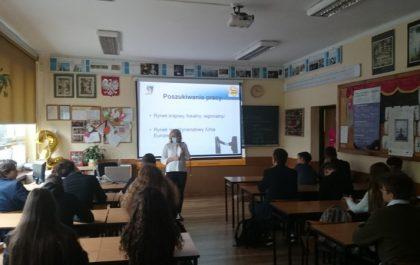 Spotkanie w szkole w ramach dni kariery