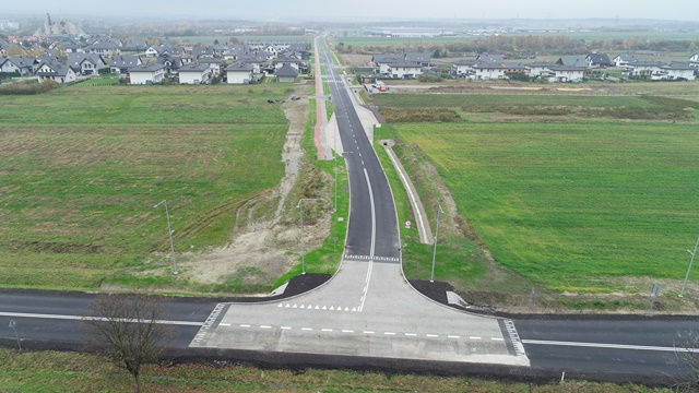 Ulica Łącząca z lotu ptaka