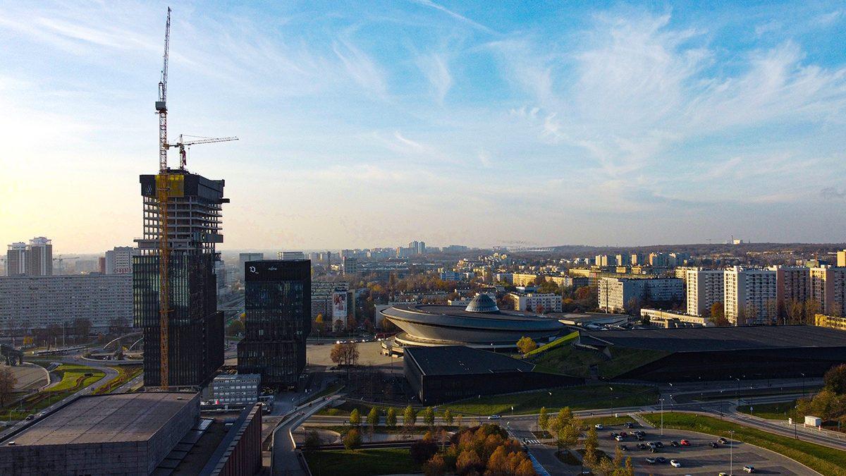 Katowice. Strefa kultury z lotu ptaka
