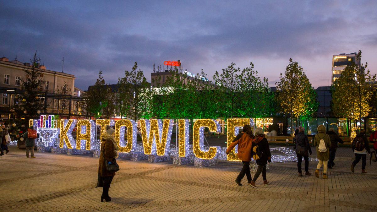 Iluminacje świąteczne w Katowicach