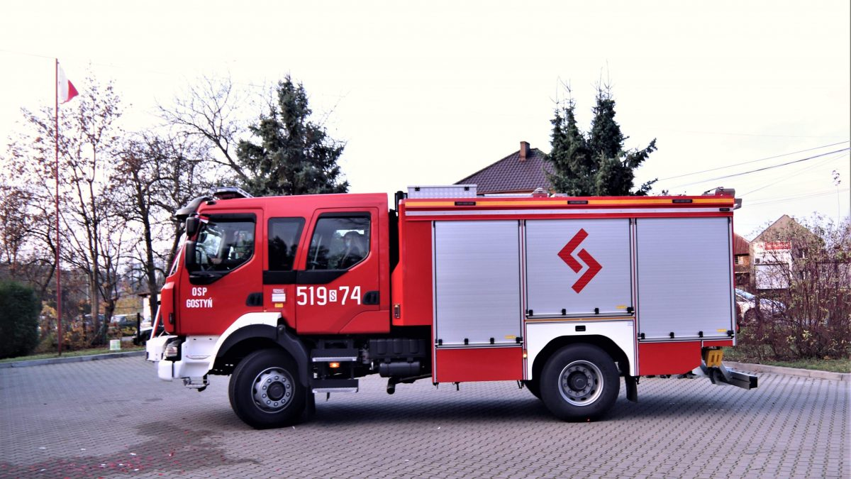 Nowy wóz strażacki dla OSP Gostyń