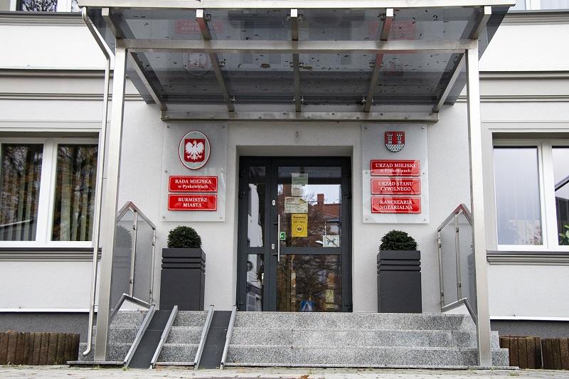 Wejście do urzędu miasta w Pyskowicach