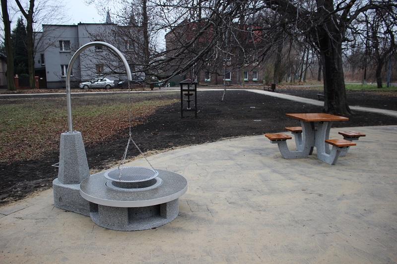Miejsce do grillowania na plantach w Rudzie Śląskiej - Kochłowicach