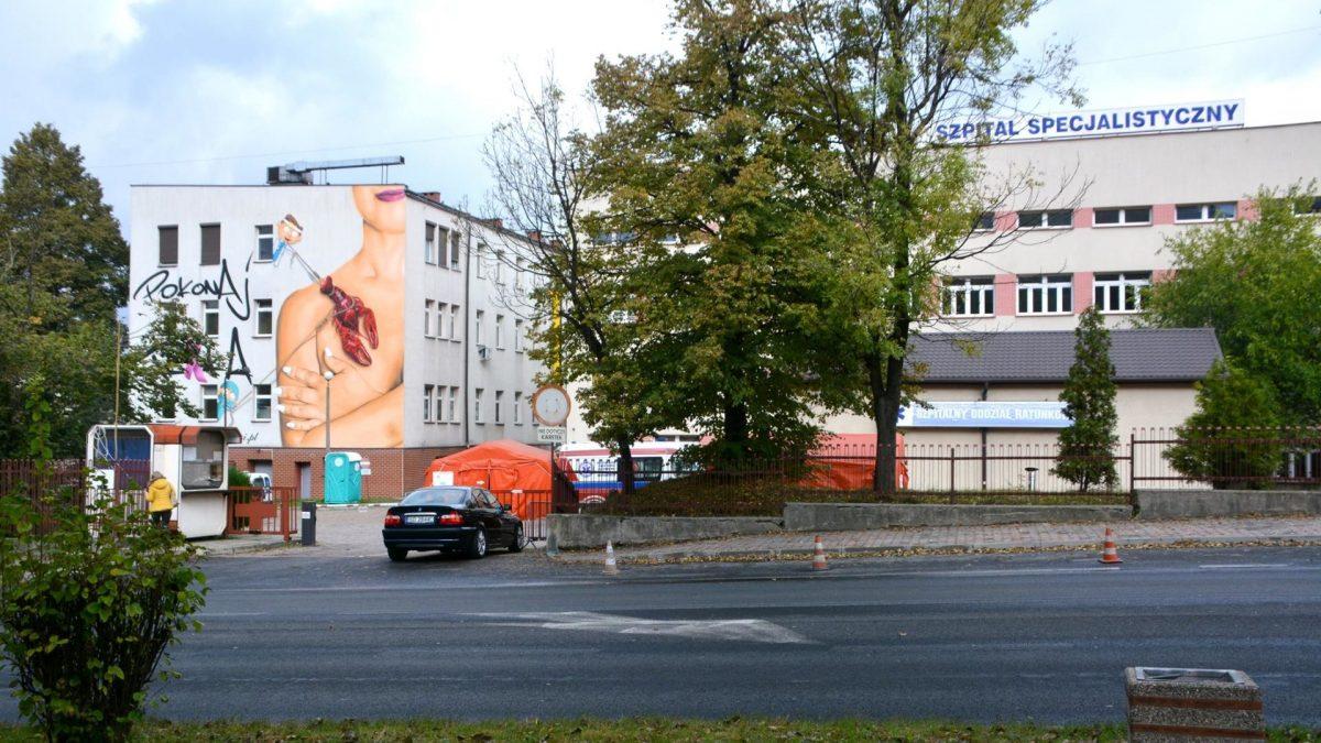Mural poświęcony walce z rakiem