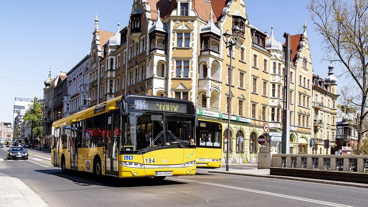 Autobusy na ulicach Katowic