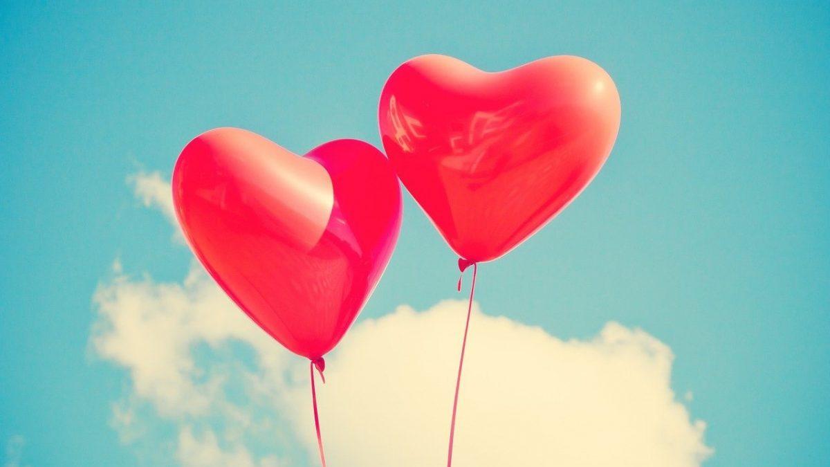 Balony w kształcie serc