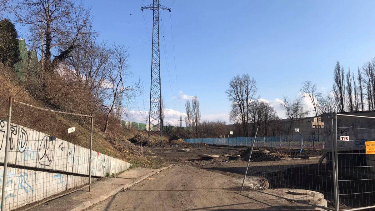Plac budowy nowego punktu selektywnej zbiórki odpadów