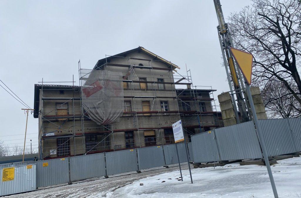 Remont budynku dworca kolejowego