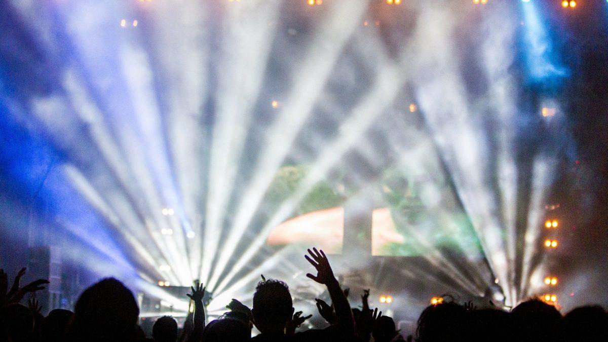 Widownia podczas koncertu muzyki popularnej