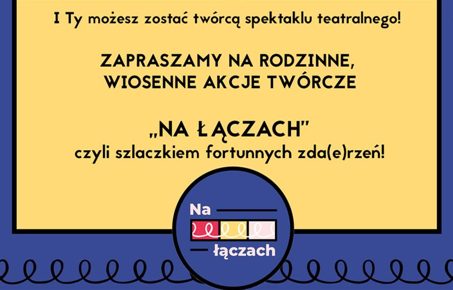 Plakat w kolorystyce żółto-granatowej informujący o warsztatach