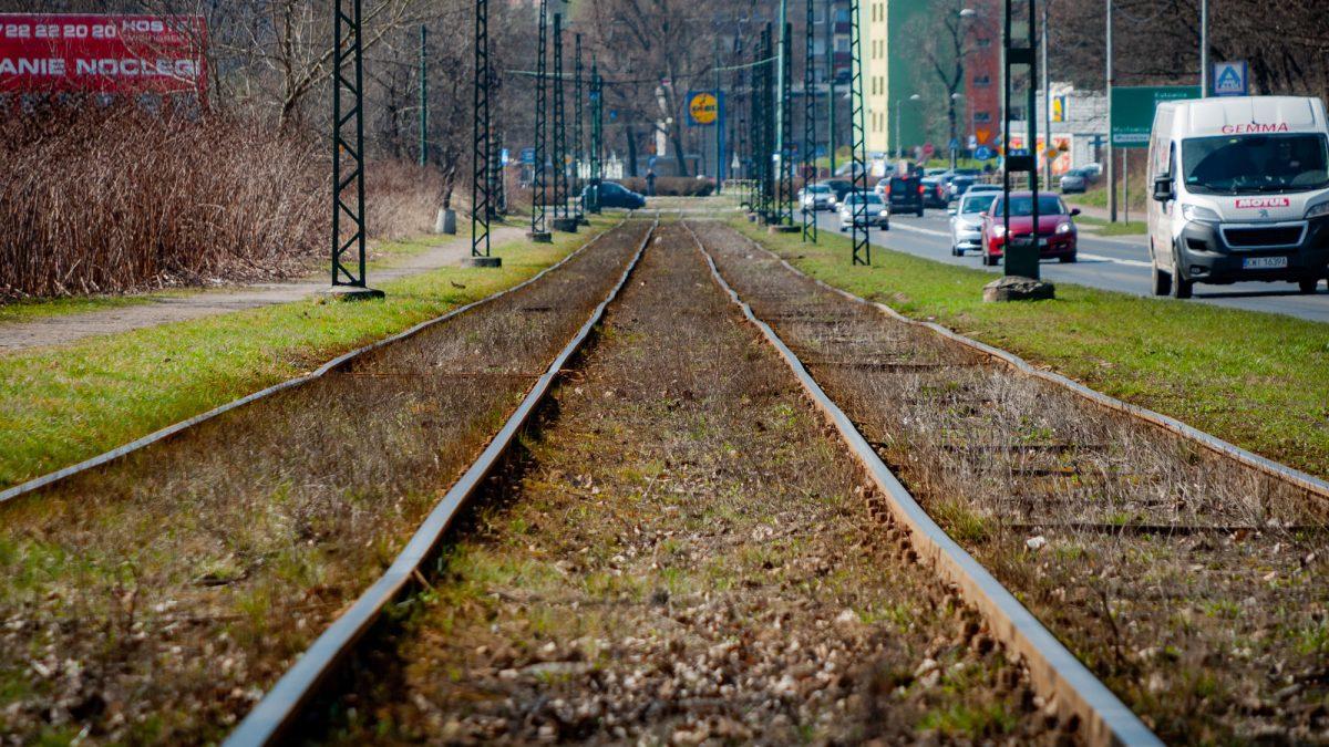 Torowisko tramwajowe w Sosnowcu